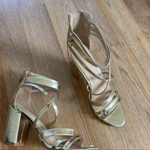 Nicole Miller Gold Heel